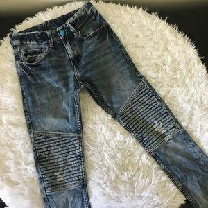 Boys 8-9Y Skinny Distressed Moto Jeans